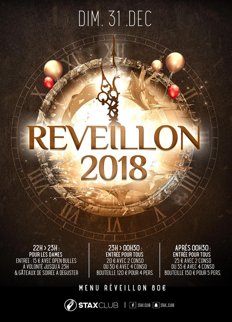 REVEILLON 2018 Dimanche 31 Décembre 2017